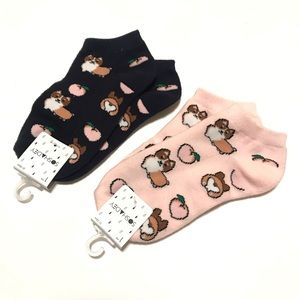 Forever 21 Accessories - Forever 21 Socks Sloth Print Ankle Two Pairs NWT